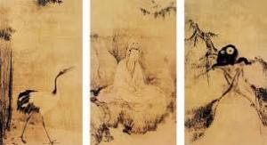 観音猿鶴図