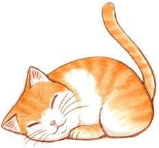 猫イラスト寝姿